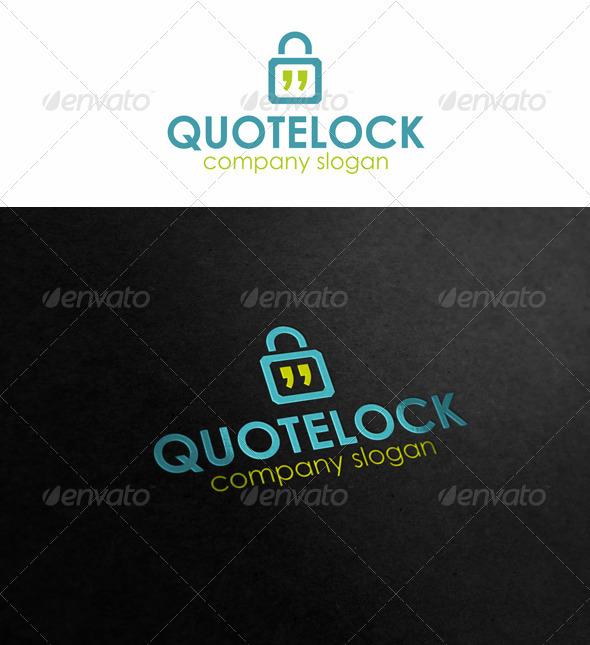 Quotes Talk Lock Logo