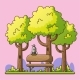 Bench In A Park - GraphicRiver Item for Sale