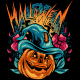 Halloween Pumpkins with Dark Situation - GraphicRiver Item for Sale