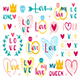St Valentine's holiday. Love cliparts. Heart, ring, crown. - GraphicRiver Item for Sale