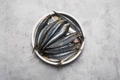 Freshly caught fresh sardines from the Mediterranean sea on the gray concrete background - PhotoDune Item for Sale