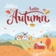 Autumn Rural Landscape with Hand Drawn Lettering - GraphicRiver Item for Sale