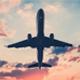 Passenger Plane Flies Overhead