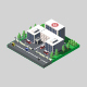 Isometric Hospital - GraphicRiver Item for Sale