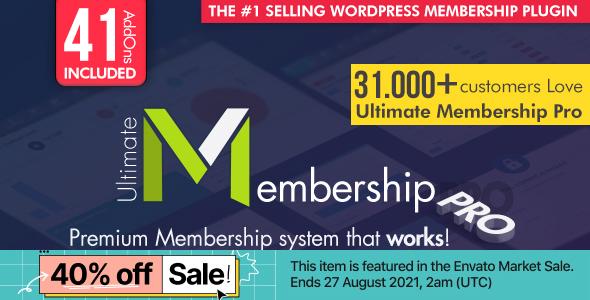Ultimate Membership Pro - Wtyczka członkostwa WordPress