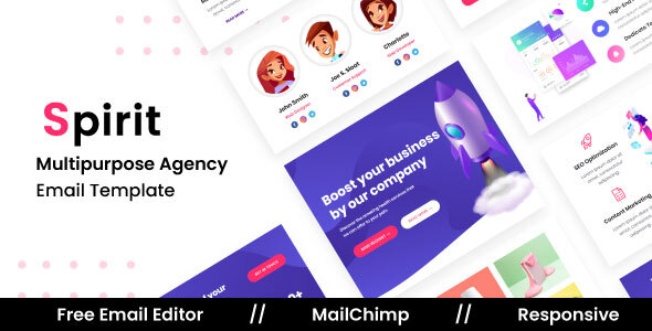 Download Spirit Agency - Multipurpose Responsive Email Template Nulled