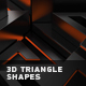 Abstract Background With 3d Triangle Shapes - VideoHive Item for Sale
