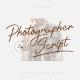 Photographer Script - GraphicRiver Item for Sale