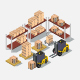 Isometric warehouse - GraphicRiver Item for Sale