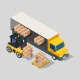 Transport Box On Isometric Truck - GraphicRiver Item for Sale