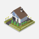Isometric Cottage - GraphicRiver Item for Sale