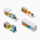 Isometric Bookshelf  - GraphicRiver Item for Sale