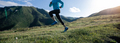 Fitness woman runner running at mountain top - PhotoDune Item for Sale