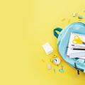 Back to school conceptual flat lay with different office supply objects - PhotoDune Item for Sale