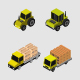 Isometric Means Of Transport - GraphicRiver Item for Sale