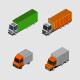 Isometric Trucks - GraphicRiver Item for Sale