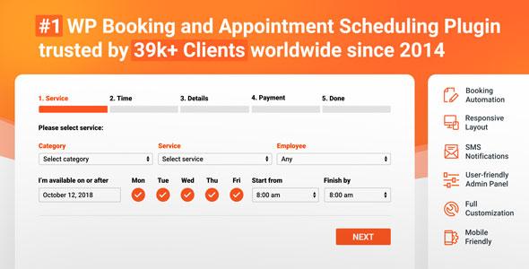 Bookly PRO - System oprogramowania do rezerwacji i planowania spotkań