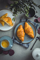 Breakfast - cup of coffee, croissants and curd cheese turnover - PhotoDune Item for Sale