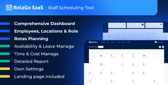 RotaGo SaaS - Staff Scheduling Tool
