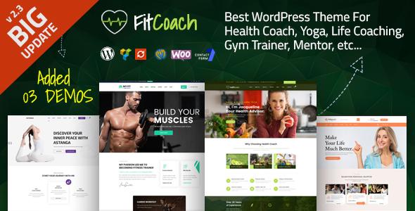 Fit Coach - Health, Yoga and Lifestyle WordPress Theme