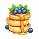 Pancake with Blueberries and Honey - GraphicRiver Item for Sale