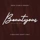 Beautyous Signature Font - GraphicRiver Item for Sale