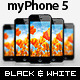 myPhone5: Web/App Showcase Phone Mockup - GraphicRiver Item for Sale