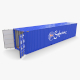 40ft Shipping Container Safmarine v2 - 3DOcean Item for Sale
