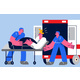 Emergency Medicine and Healthcare Concept - GraphicRiver Item for Sale