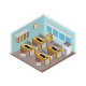 Isometric Office Room - GraphicRiver Item for Sale