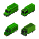 Isometric Military Truck Set - GraphicRiver Item for Sale