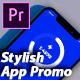 Stylish Mobile App Promo - App Demonstration Video - 3d Mobile Mockup Premiere Pro - VideoHive Item for Sale