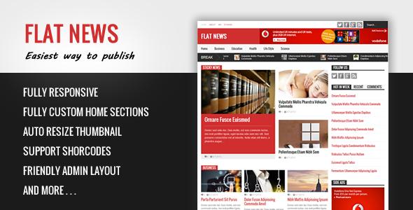 FlatNews - responsywny szablon Blogger Magazine