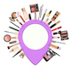 Vector Makeup Concept with Pick Point - GraphicRiver Item for Sale