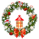Vector Snowy Christmas Wreath with Lamp - GraphicRiver Item for Sale