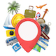 Vector Travel Concept with Pick Point - GraphicRiver Item for Sale