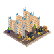 Isometric Warehouse Illustrated On White Background - GraphicRiver Item for Sale