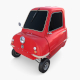 Peel P50 Red with chassis - 3DOcean Item for Sale