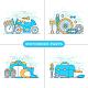 Motorbike Parts Concept Illustration - GraphicRiver Item for Sale
