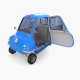 Peel P50 Blue with interior and chassis - 3DOcean Item for Sale