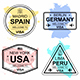 Set of Travel Visa Stamps - GraphicRiver Item for Sale