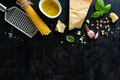 Pesto ingredients on dark background - PhotoDune Item for Sale