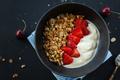 Homemade granola in bowl on dark - PhotoDune Item for Sale