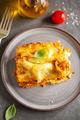 Tasty baked italian lasagne on casserole - PhotoDune Item for Sale