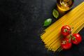 Italian food background on dark - PhotoDune Item for Sale