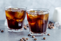Iced coffee with ice cubes in glass - PhotoDune Item for Sale