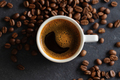 Steaming coffee espresso in cup - PhotoDune Item for Sale