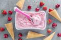 Homemade fruity ice cream in bowl - PhotoDune Item for Sale