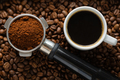 Coffee background with coffee and portafilter - PhotoDune Item for Sale