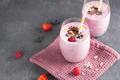 Fresh milkshake with berries in glasses - PhotoDune Item for Sale